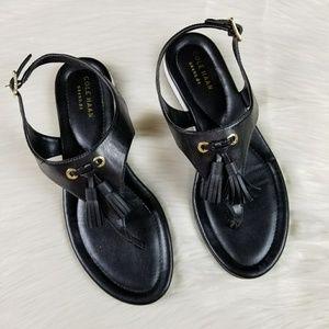 Cole Haan size 7B Black Tassle Sandals